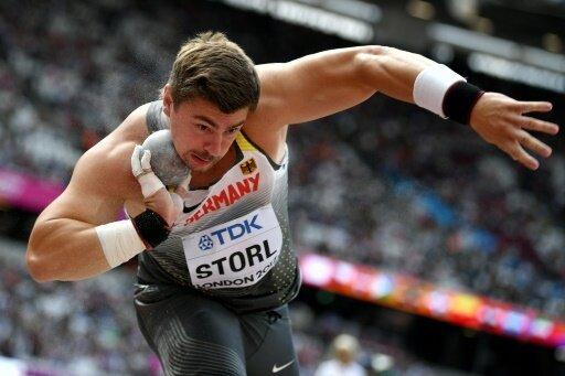 David Storl steht nach dem ersten Versuch im Finale