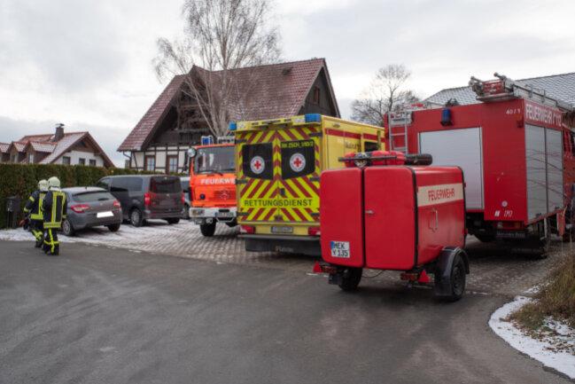 Ein Geschirrspühler war in Brand geraten.