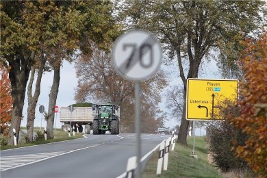 Die Bundesstraße 92 wird ab Oberlosa ab August voll gesperrt.