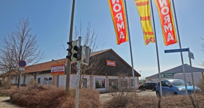 Der Norma-Markt in Zwickau-Auerbach wird geschlossen, sobald der Neubau in Eckersbach fertiggestellt ist.