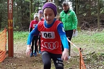 Der Steinkuppencrosslauf bietet viele Hindernisse. Zum Beispiel müssen die Starter über Holzbalken springen und balancieren.