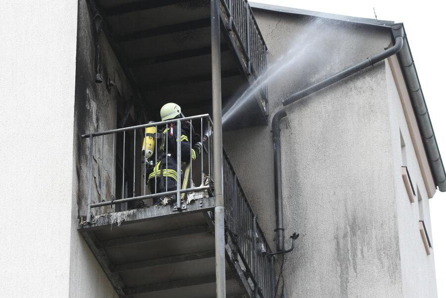 Am Donnerstagnachmittag brannte es auf einem Balkon an der Wieprechtsstraße.