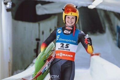 Julia Taubitz kann mit großem Optimismus in die WM-Rennen gehen.