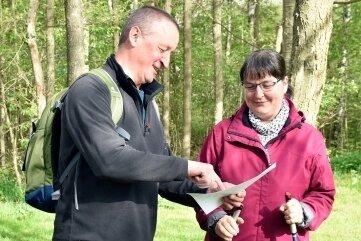 Bettina und Michael Kolbe aus Gürth zählen sonst zum Helferteam der Wanderung. Diesmal nutzten sie die Chance, sich selbst unter die Teilnehmer zu mischen.