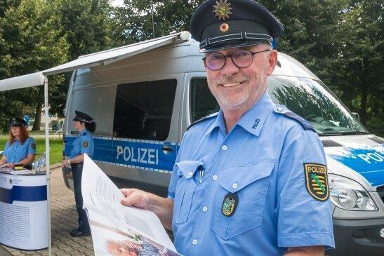 Zum Präventionsteam gehörten in Olbernhau die Polizeihauptmeister Andreas Pforte, Kathy Seyferth und Jana Kürschner.