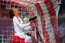 Yussuf Poulsen heute mit Doppelpack. Der RB-Stürmer schoss die beiden ersten Tore.