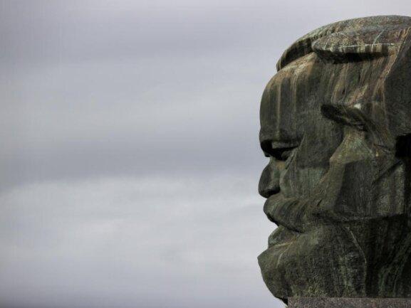 Das vom sowjetischen Bildhauer Lew Kerbel 1971 geschaffene Karl-Marx-Monument.