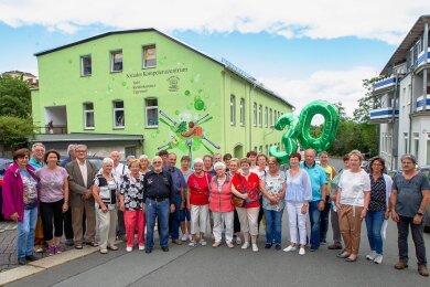 Frühere Mitstreiter der Arbeitsloseninitiative waren am Mittwoch anlässlich des 30-jährigen Bestehens zu einer geselligen Runde nach Plauen eingeladen.