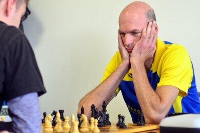 Steffen Ranft vom Hainichener Landesklasse-Team, hier in einer früheren Partie, steuerte gegen Dresden-Leuben ein Remis bei.