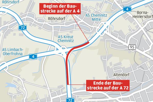 Autobahnkreuz Chemnitz wird bis Oktober zur Staufalle