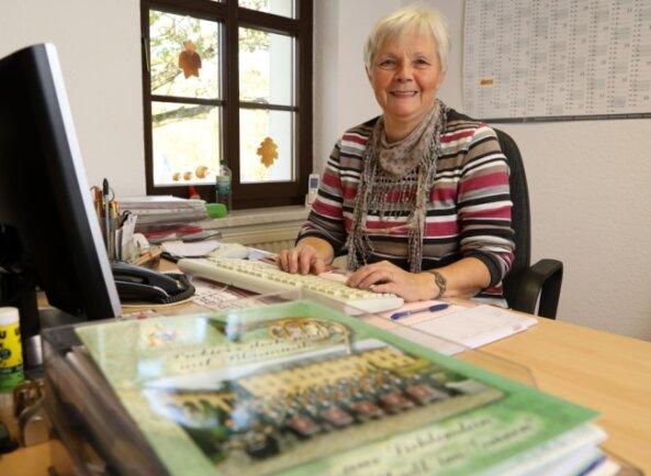 Martina Heinrich gilt als die gute Seele der Geschäftsstelle des Musikvereins Lichtenstein. Nach 20 Jahren geht sie in Ruhestand. Ihre Bühne war immer das Büro.