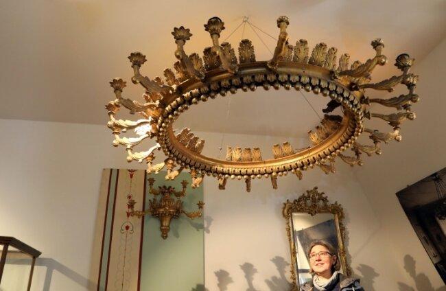 Stadtmuseum Lichtenstein: Der alte Kronleuchter aus dem Schloss soll restauriert werden.