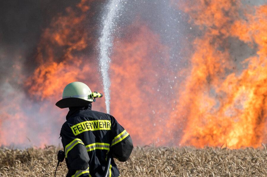 An der Straße zwischen Wechselburg und Nöbeln hat es am Donnerstag gebrannt - gleich an drei Stellen.