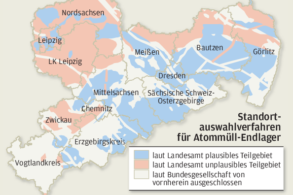 Atommüll-Endlagersuche: Sachsens Experten halten viele Gebiete für ungeeignet