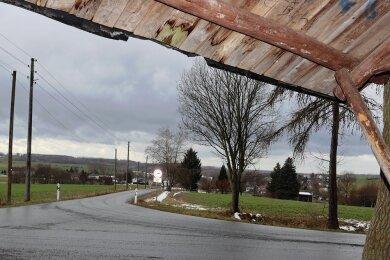 Die Langenbernsdorfer Gemeinderäte befürchten, dass der geplante Funkmast in Trünzig die Sichtachse auf das Dorf beeinträchtigt.