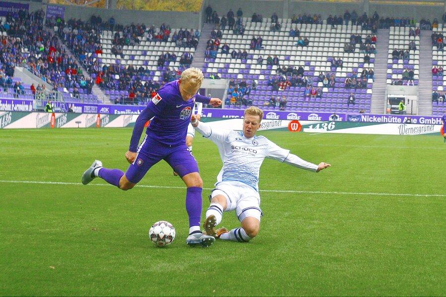 Erzgebirge Aue besiegt Arminia Bielefeld 1:0