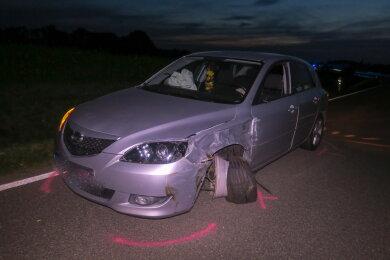 Das Auto des Unfallverursachers.