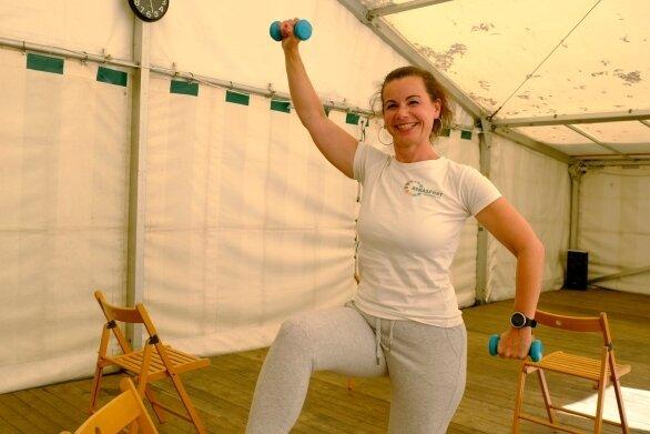 Tapetenwechsel auch für Übungsleiterin Sandra Heumann.