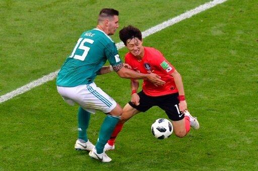 Jae Sung Lee (r.) bei der WM im Duell mit Niklas Süle