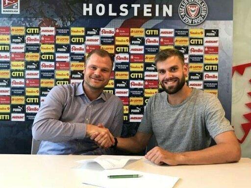 Sportdirektor Wohlgemuth (l.) und Stefan Thesker (r.)