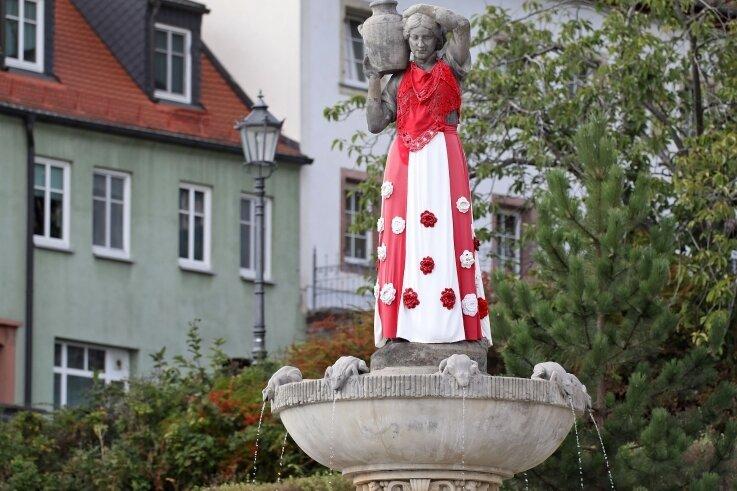 Auch die Kalte Hedwig auf dem Altmarkt wird beleuchtet.