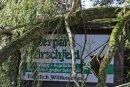 """Sturmtief """"Fabienne"""" hatte im Tierpark Hirschfeld schwere Schäden hinterlassen."""