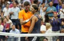 Del Potro (r.) tröstet den angeschlagenen Nadal