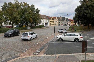 Die Pläne für den Umbau der Plätze an der Chemnitzer Straße werden zur Einwohnerversammlung am Dienstag vorgestellt. Foto: A. Kretschel/Archiv