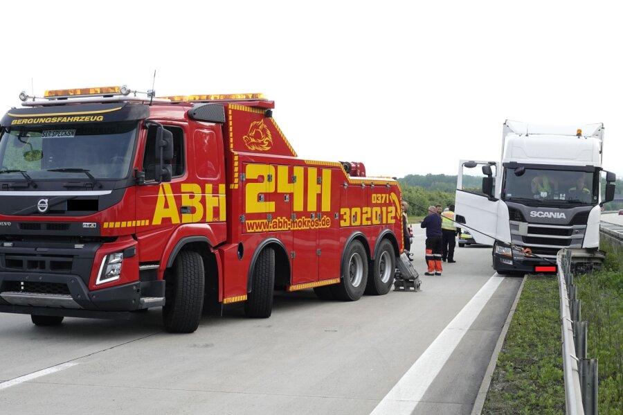 Lasterunfall auf A4 bei Limbach
