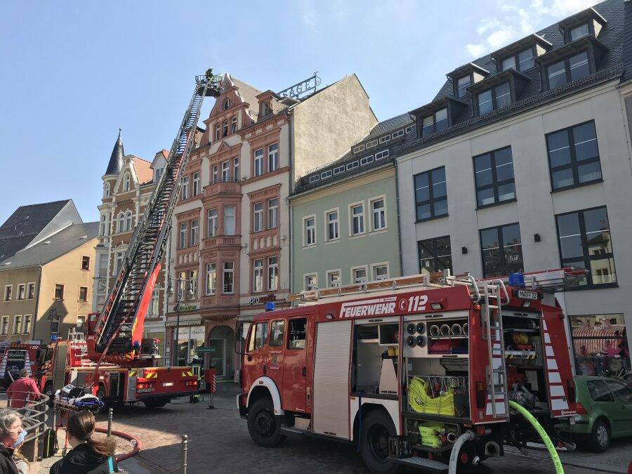 Brand in Mittweidaer Marktpassage