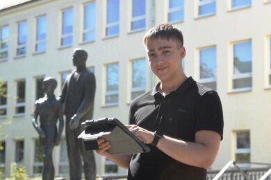 Fordert mehr Tempo: Oliver Sachsze, Vorsitzender des Stadtschülerrats und angehender Kaufmann im Groß- und Außenhandel.