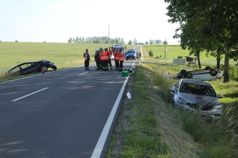 Schwerer Unfall auf der B173