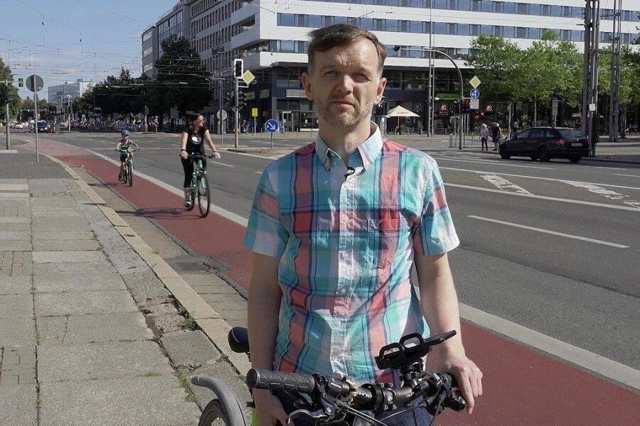 Findet, dass der Radverkehr in Chemnitz nicht als vollwertige Verkehrsart wahrgenommen wird: Chris Hübsch.