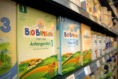 In Deutschland wird mancherorts das Milchpulver knapp