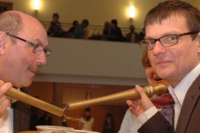 Manche Suppe musste aber auch ausgelöffelt werden - unter anderem mit dem langjährige Pfarrer Nico Piehler.