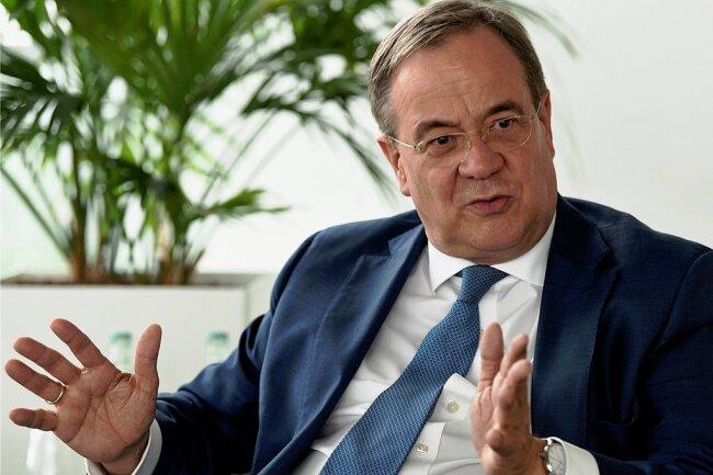 """""""Sie werden mich nicht häufig singen hören"""", gibt Unionskanzlerkandidat Armin Laschet im Gespräch mit der """"Freien Presse"""" Entwarnung."""