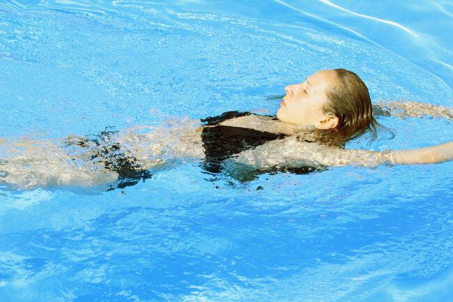 Sollten Sie beim Schwimmen in Atemnot kommen, so wechseln Sie vorübergehend in die Rückenlage.