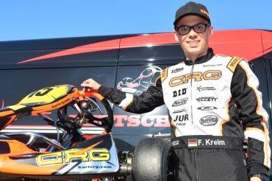 Eigentlich ist Fabian Kreim als Rallye-Pilot erfolgreich. Das Kartfahren ist für den Hessen ein super Training.