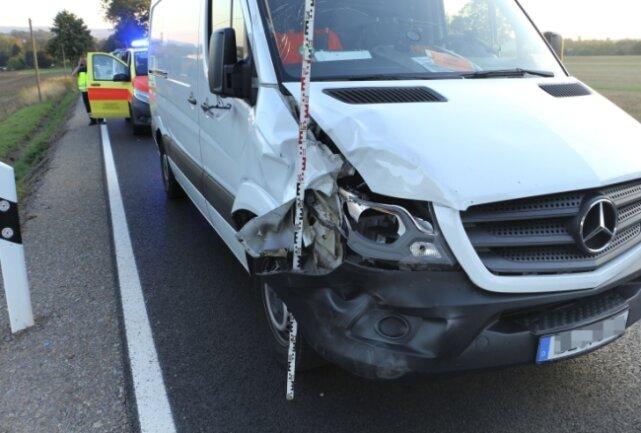 Mehrere hundert Meter nach dem Ortsausgang Oederan hatte der Transporter die Radfahrerin von hinten angefahren. Dafür musste sich der Transporterfahrer nun vor Gericht verantworten.