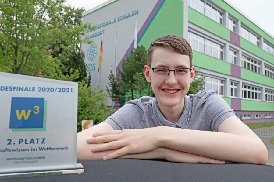 Dominik Orth holte den zweiten Platz in einem bundesweiten Wissens-Wettbewerb.