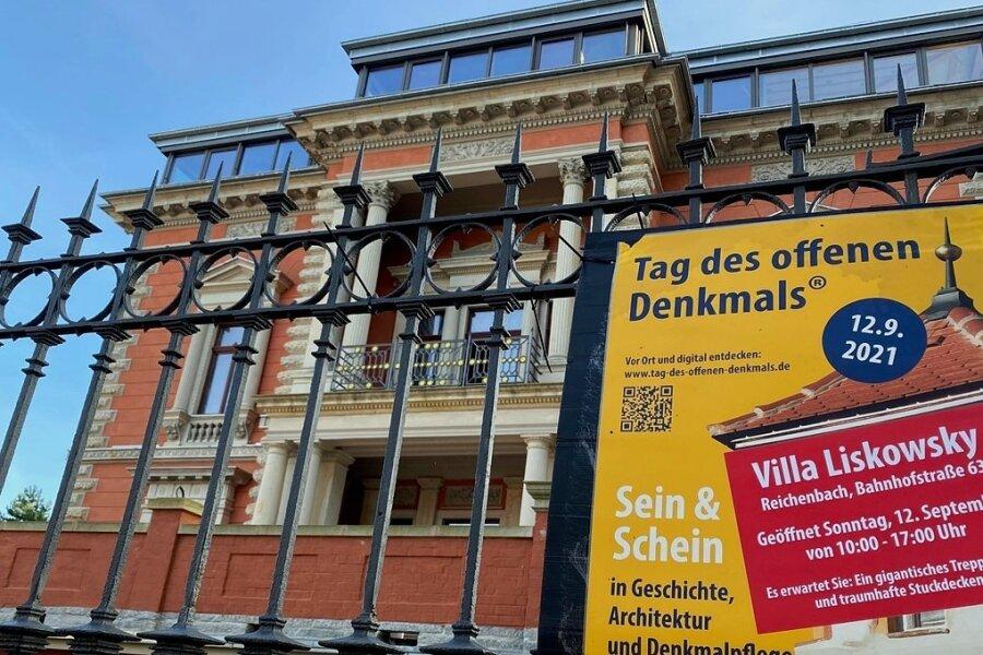 Dürfte am Sonntag von 10 bis 17 Uhr ein Besuchermagnet des Tages des offenen Denkmals sein: die Villa Liskowsky in Reichenbach.