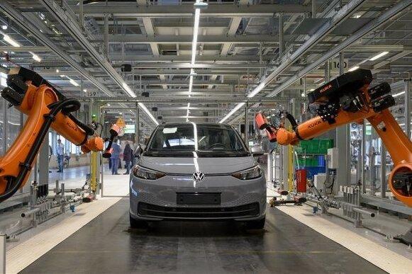 Läuft im Zwickauer Volkswagenwerk klimaneutral vom Band: das Elektroauto ID.3.