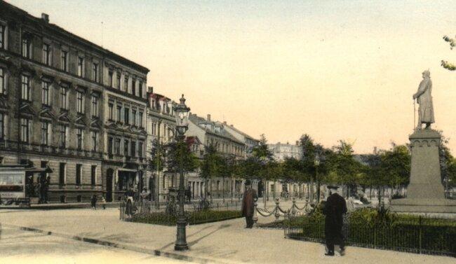 Der Kaiser Wilhelm Platz mit Bismarck-Denkmal um 1910