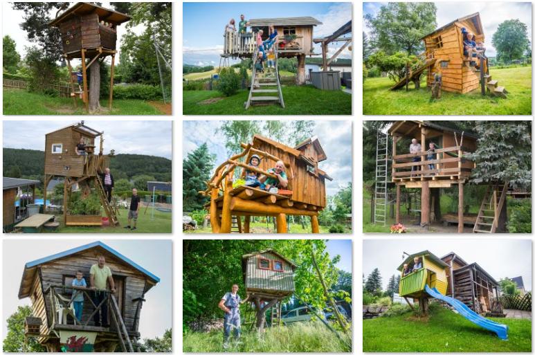 Wer hat das schönste Baumhaus im Erzgebirge?