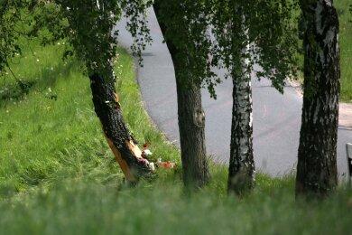 Die Unfallstelle: Hier ereignete sich am Freitag der tödliche Unfall bei der Sachsen-Rallye.