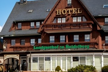 Außenansicht des Landgasthofs zu Heidelberg.