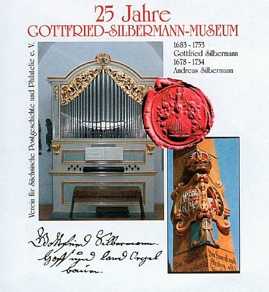 Der Sonderumschlag im Jubiläumsjahr mit der Silbermann-Orgelkopie des Museums.