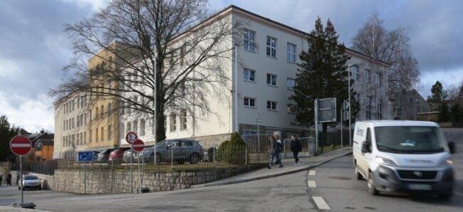 Die Oberschule an der Stollberger Straße in Thalheim.