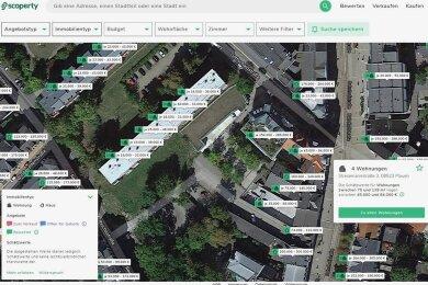Auf seiner Webseite will Scoperty einen Überblick über die Immobilienpreise geben.