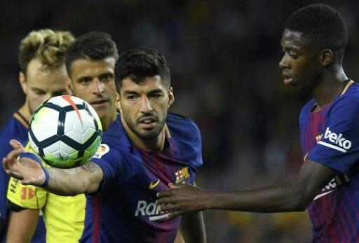 Seit dieser Saison spielen Dembele und Suarez zusammen